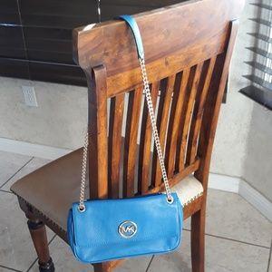 Blue Cross body purse